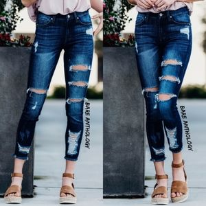 Denim - PATRICE Distressed Skinny Jeans
